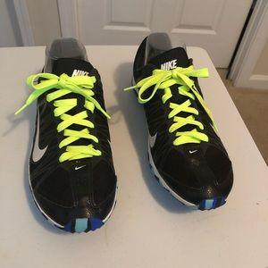 Women NIKE Running Track Spike Shoes Sz 10
